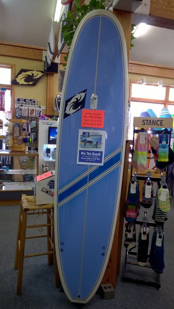 Win this board from WRV in the raffle on Saturday